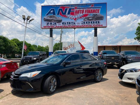 2016 Toyota Camry for sale at ANF AUTO FINANCE in Houston TX