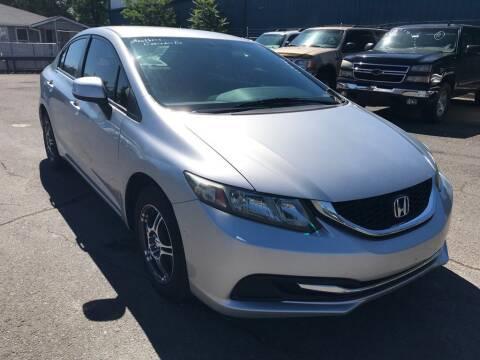 2013 Honda Civic for sale at CENTURY MOTORS in Fresno CA