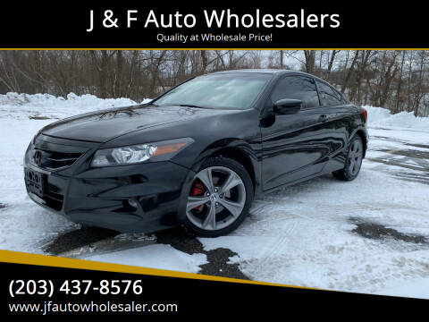 2012 Honda Accord for sale at J & F Auto Wholesalers in Waterbury CT
