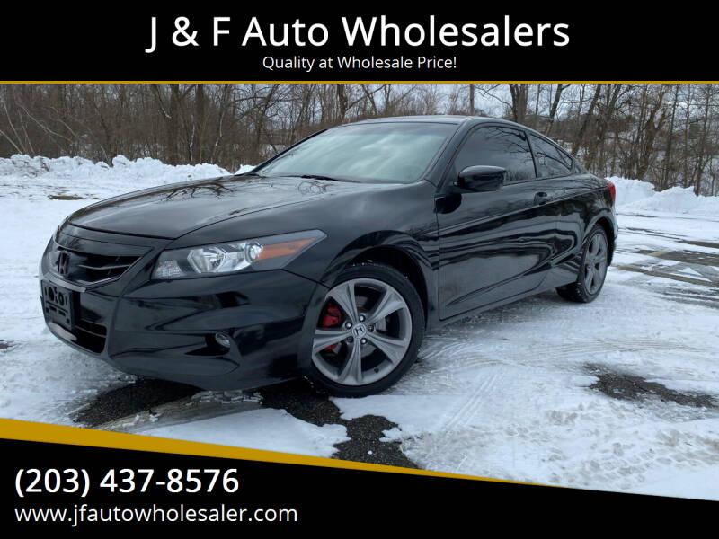 2012 Honda Accord for sale at J & F Auto Wholesalers in Waterbury CT