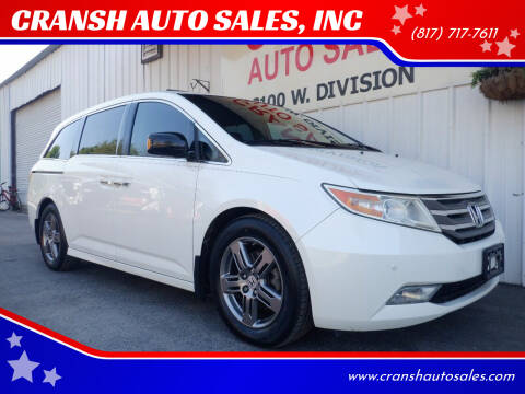 2012 Honda Odyssey for sale at CRANSH AUTO SALES, INC in Arlington TX