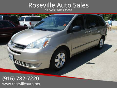 2005 Toyota Sienna for sale at Roseville Auto Sales in Roseville CA