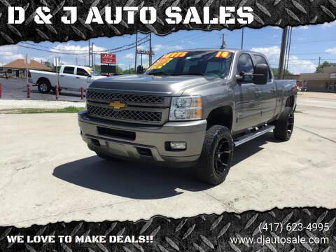 2014 Chevrolet Silverado 2500HD for sale at D & J AUTO SALES in Joplin MO