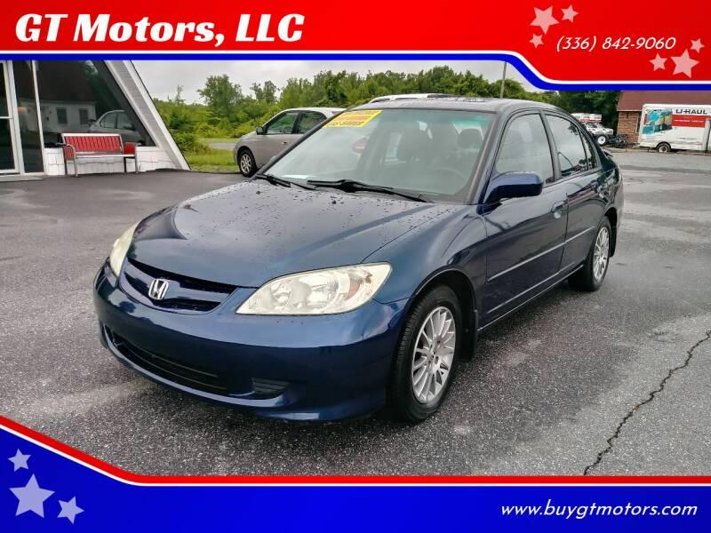 2005 Honda Civic for sale at GT Motors, LLC in Elkin NC