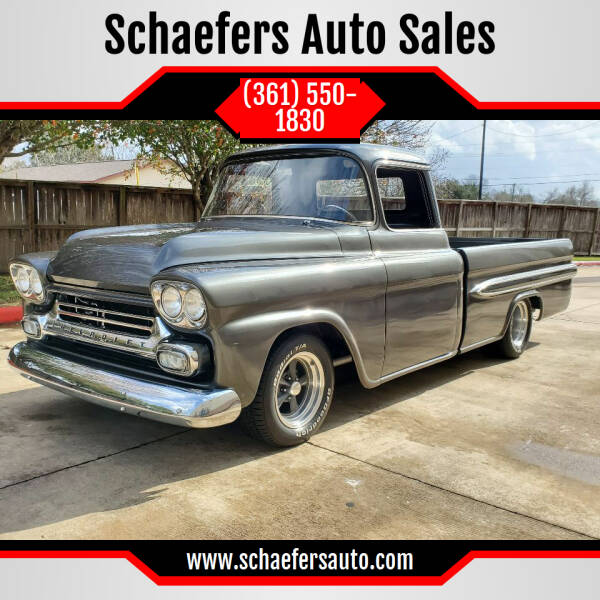 1959 Chevrolet Apache for sale at Schaefers Auto Sales in Victoria TX