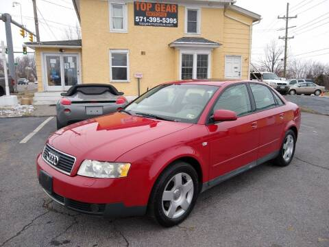 2003 Audi A4 for sale at Top Gear Motors in Winchester VA