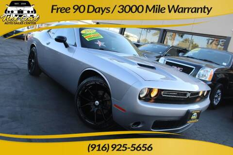 2016 Dodge Challenger for sale at West Coast Auto Sales Center in Sacramento CA