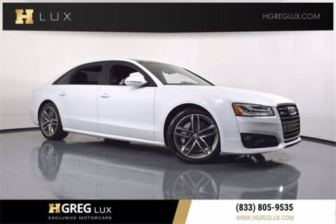 2017 Audi A8 L for sale at HGREG LUX EXCLUSIVE MOTORCARS in Pompano Beach FL
