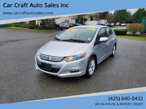 2010 Honda Insight for sale at Car Craft Auto Sales Inc in Lynnwood WA