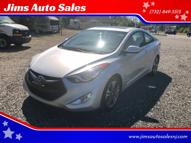 2013 Hyundai Elantra Coupe for sale at Jims Auto Sales in Lakehurst NJ