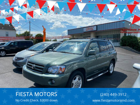2007 Toyota Highlander for sale at FIESTA MOTORS in Hagerstown MD