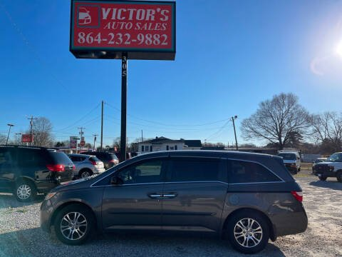2011 Honda Odyssey for sale at Victor's Auto Sales in Greenville SC