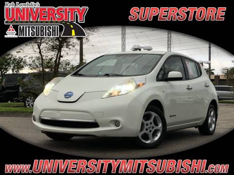 2012 Nissan LEAF for sale at University Mitsubishi in Davie FL