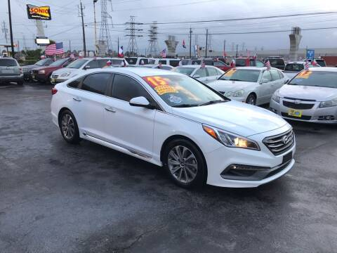 2015 Hyundai Sonata for sale at Texas 1 Auto Finance in Kemah TX