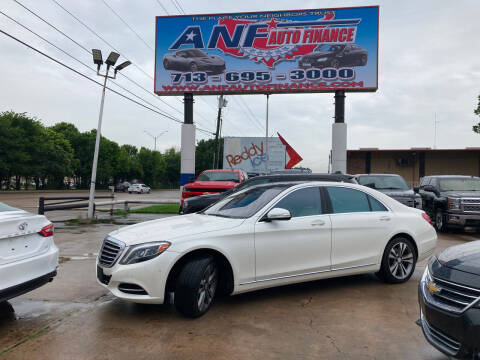 2014 Mercedes-Benz S-Class for sale at ANF AUTO FINANCE in Houston TX