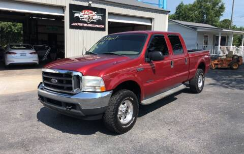 2001 Ford F-250 Super Duty for sale at Jack Foster Used Cars LLC in Honea Path SC