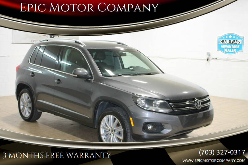 2014 Volkswagen Tiguan for sale at Epic Motor Company in Chantilly VA