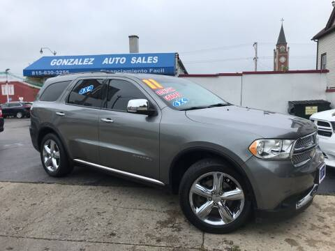 2011 Dodge Durango for sale at Gonzalez Auto Sales in Joliet IL