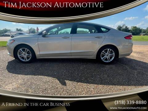 2018 Ford Fusion for sale at Tim Jackson Automotive in Jonesville LA
