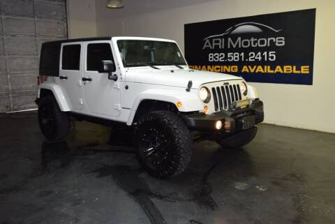 2016 Jeep Wrangler Unlimited for sale at ARI Motors in Houston TX