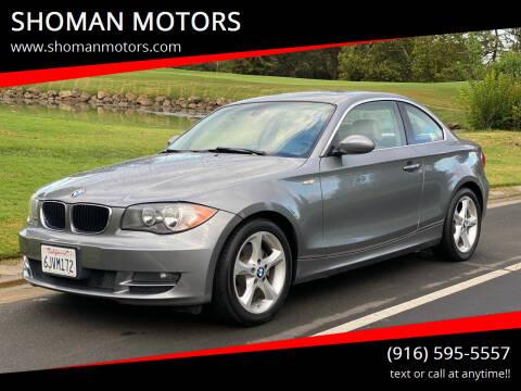 2009 BMW 1 Series for sale at SHOMAN MOTORS in Davis CA