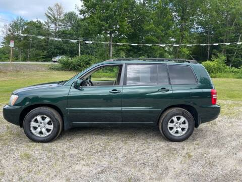 2002 Toyota Highlander for sale at Hart's Classics Inc in Oxford ME