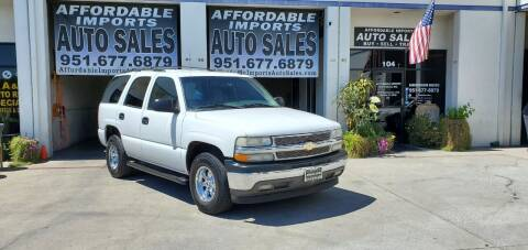 2006 Chevrolet Tahoe for sale at Affordable Imports Auto Sales in Murrieta CA