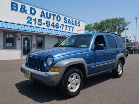 2006 Jeep Liberty for sale at B & D Auto Sales Inc. in Fairless Hills PA