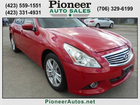 2013 Infiniti G37 Sedan for sale at PIONEER AUTO SALES LLC in Cleveland TN