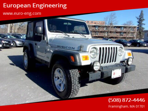 2006 Jeep Wrangler for sale at European Engineering in Framingham MA