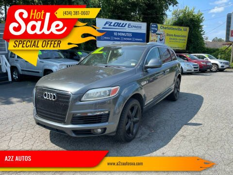 2009 Audi Q7 for sale at A2Z AUTOS in Charlottesville VA