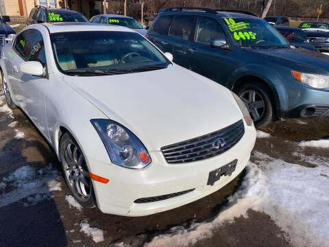 2005 Infiniti G35 for sale at Richard C Peck Auto Sales in Wellsville NY