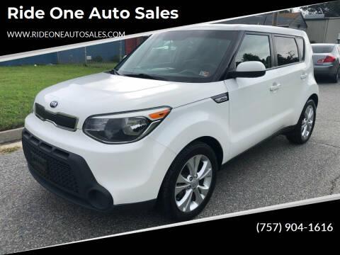 2015 Kia Soul for sale at Ride One Auto Sales in Norfolk VA
