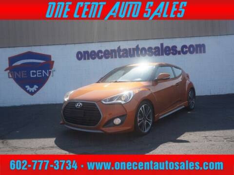 2016 Hyundai Veloster for sale at One Cent Auto Sales in Glendale AZ