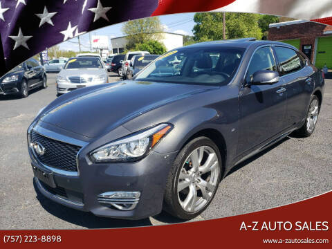 2015 Infiniti Q70L for sale at A-Z Auto Sales in Newport News VA