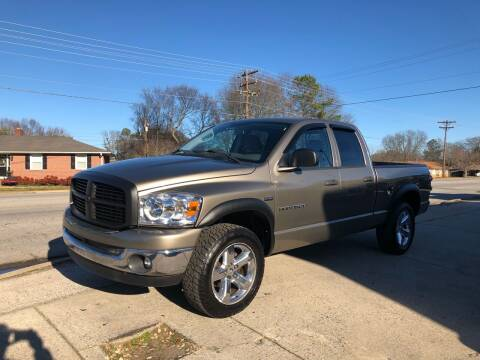 2007 Dodge Ram Pickup 1500 for sale at E Motors LLC in Anderson SC