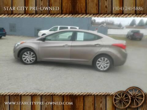 2013 Hyundai Elantra for sale at STAR CITY PRE-OWNED in Morgantown WV