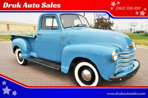1952 Chevrolet 3100 for sale at Druk Auto Sales in Ramsey MN