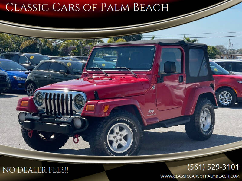 2005 Jeep Wrangler for sale at Classic Cars of Palm Beach in Jupiter FL