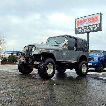 1983 Jeep CJ-7 for sale at Hayden Cars in Coeur D Alene ID