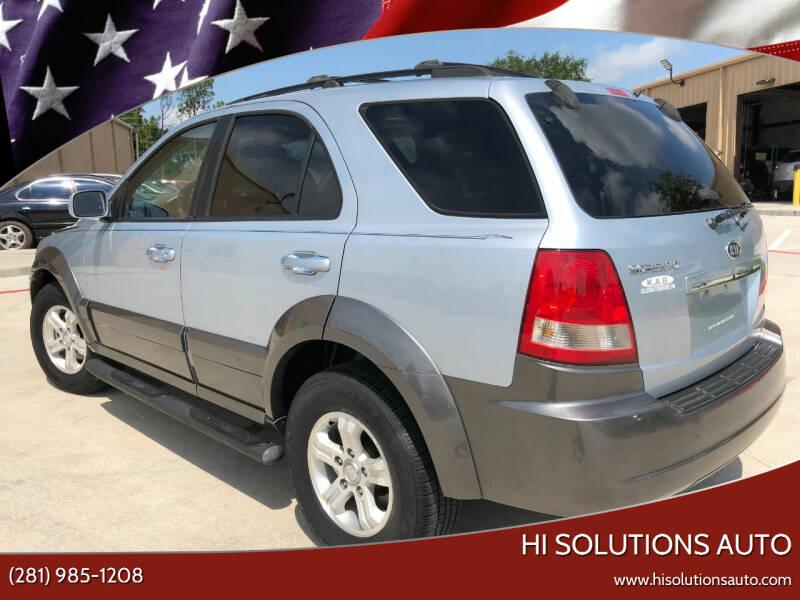 2006 Kia Sorento for sale at HI SOLUTIONS AUTO in Houston TX