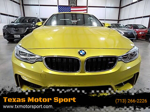 2016 BMW M4 for sale at Texas Motor Sport in Houston TX