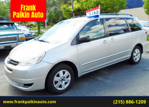 2004 Toyota Sienna for sale at Frank Paikin Auto in Glenside PA