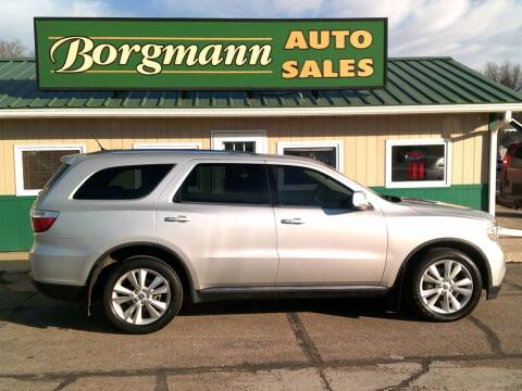 2012 Dodge Durango for sale at Borgmann Auto Sales in Norfolk NE