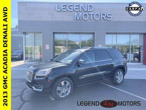2013 GMC Acadia for sale at Legend Motors of Waterford in Waterford MI