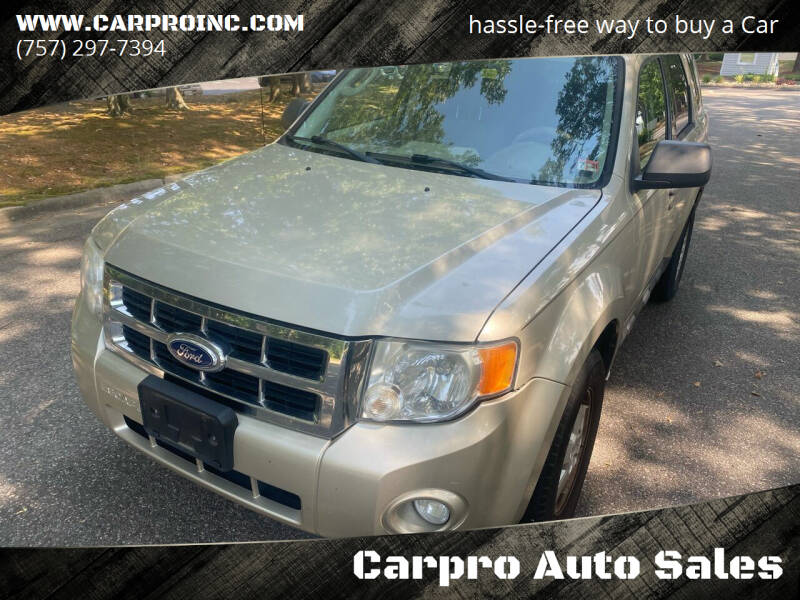 2010 Ford Escape for sale at Carpro Auto Sales in Chesapeake VA