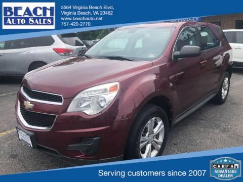 2010 Chevrolet Equinox for sale at Beach Auto Sales in Virginia Beach VA