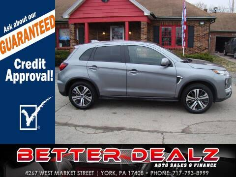 2020 Mitsubishi Outlander Sport for sale at Better Dealz Auto Sales & Finance in York PA