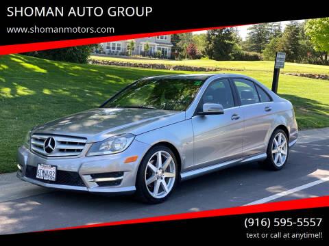2012 Mercedes-Benz C-Class for sale at SHOMAN AUTO GROUP in Davis CA