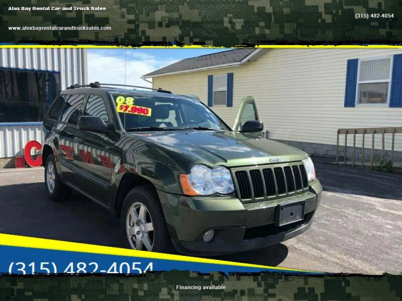 2008 Jeep Grand Cherokee for sale at Alex Bay Rental Car and Truck Sales in Alexandria Bay NY